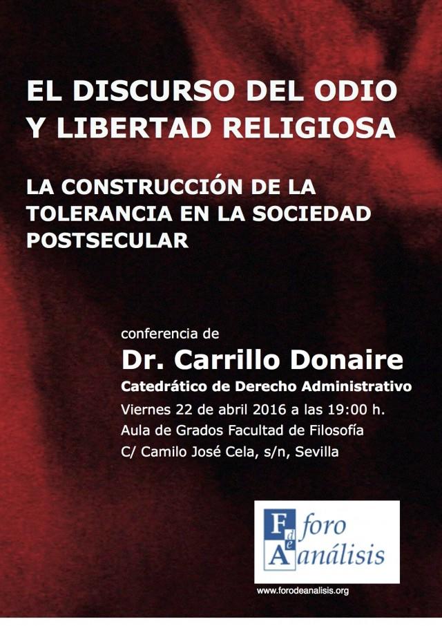 Discurso del odio y libertad religiosa