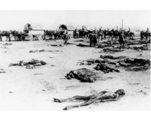 Cadáveres de soldados españoles.