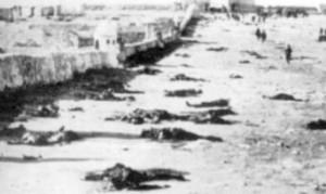 Cadáveres de soldados españoles en Arruit