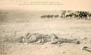 El cadáver de un soldado español.