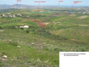 Vista general desde la posición de Igueriben: Foto de Foro Historia de Google Earth. Creado por TintoStaRosa).