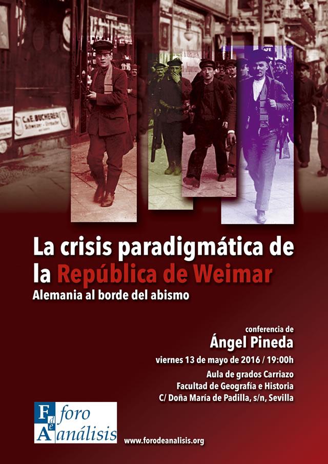 La crisis paradigmática de la República de Weimar